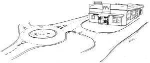 Gebäude Skizze 1